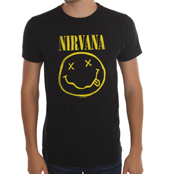 Nirvana 'Smile' Black 2-Sided Men's T-Shirt