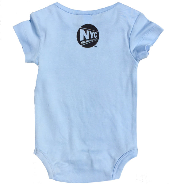 NYC Subway Line Manhattan Baby Boys Romper, Blue (12 Months)