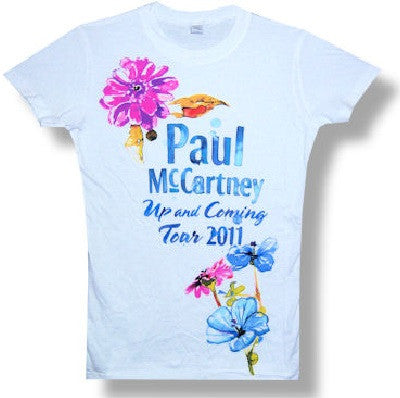 Paul McCartney Flowers 2011 Tour Juniors T-Shirt (Large-Juniors)