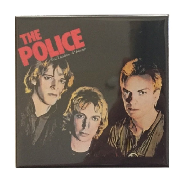 "The Police Outlandos D'Amour 3 x 3"" Fridge Magnet"