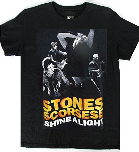 Rolling Stones T-shirt 'Shine A Light Stones Scorcese' black movie tee (Large)