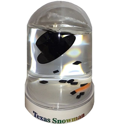 Original Melted Snowman Snowglobe - Texas Snow Globe