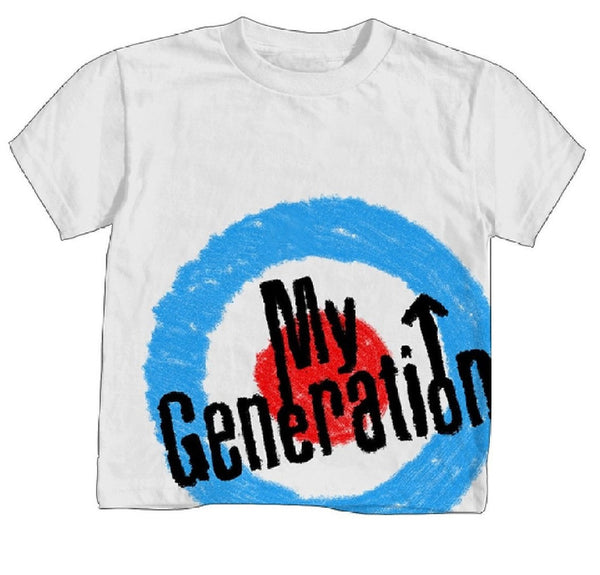The Who My Generation Little Boys Tee, White (4T)