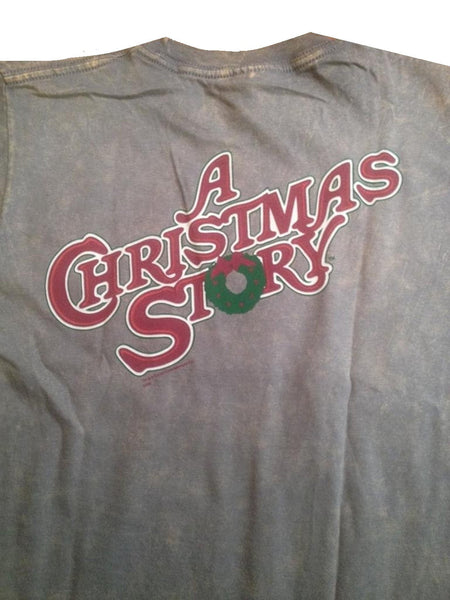 Christmas Story 'You'll Shoot Your Eye Out' Grey/Beige T-Shirt