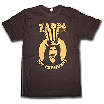 Frank Zappa For president Lightweight Black T-Shirt (Large)