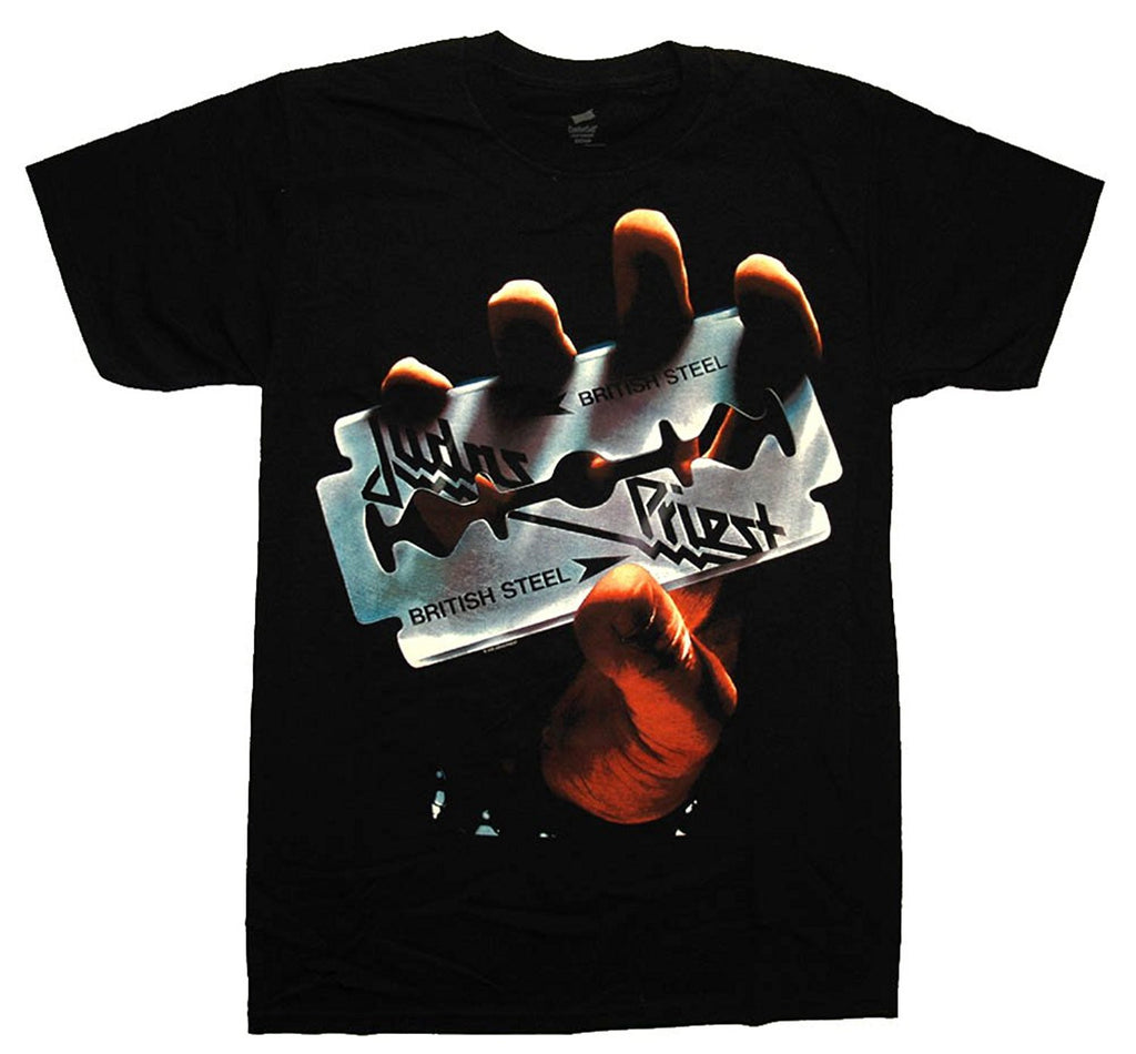 Judas Priest British Steel 1-Sided Men's T-Shirt, Black, Medium