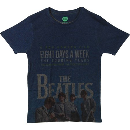 Beatles 8 Days A Week Movie Poster Mens Navy Blue / Grey Sublimation T-shirt