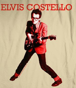 Elvis Costello 'My Aim Is True' Light Brown T-Shirt (Large)