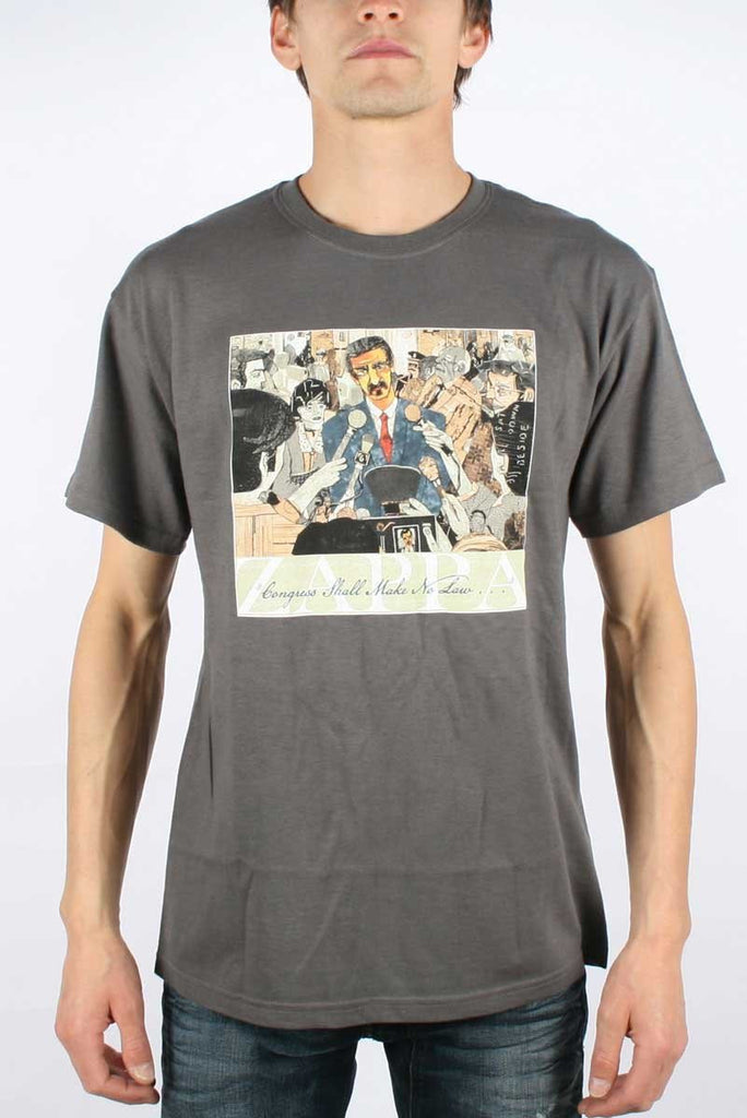 Frank Zappa Congress album Charcoal T-Shirt (Large)