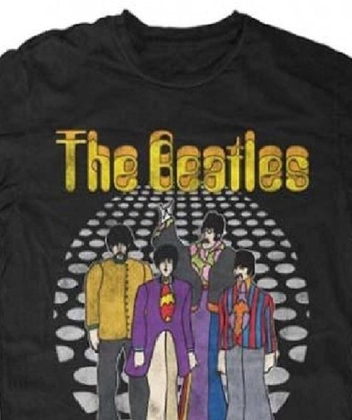 Beatles Dance Floor Lightweight Black T-Shirt (X-Large)