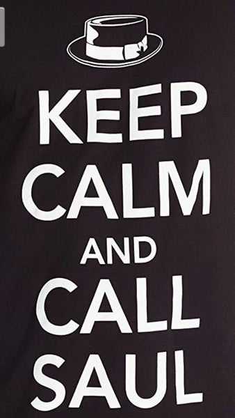 Better Call Saul Men's Keep Calm and Call Saul T Shirt, Black, Small