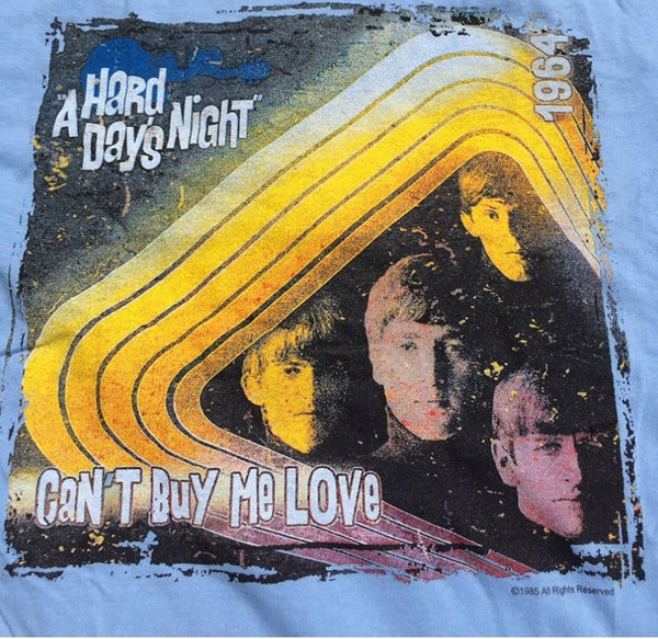 Beatles 'Hard Days Night' Blue T-Shirt (Large)