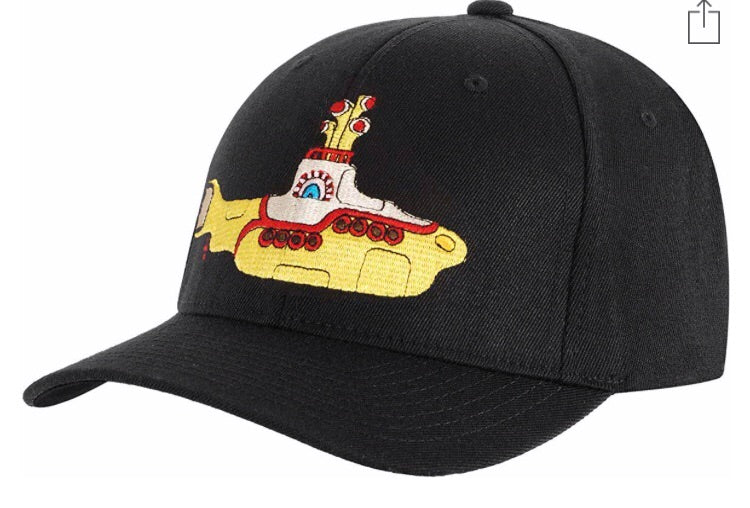 Beatles Baseball Cap Yellow Submarine Black Embroidered Hat
