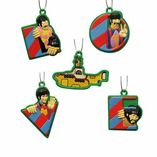 The Beatles Yellow Submarine 5 Piece Christmas Ornament Set
