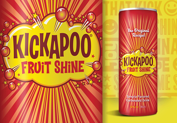 Kickapoo Fruit Shine Slim Can