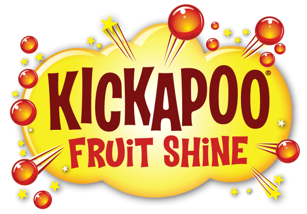 Kickapoo Fruit Shine Glass Bottles