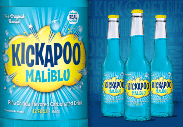 Kickapoo Maliblu Glass Bottles