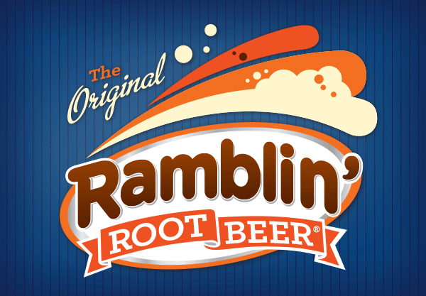 Ramblin' Root Beer Glass Bottles