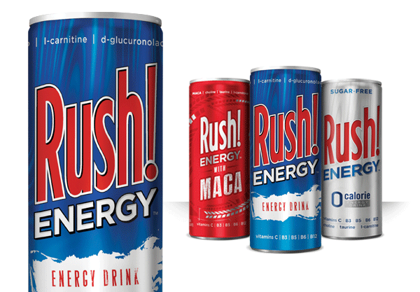 Rush! Energy Slim Can