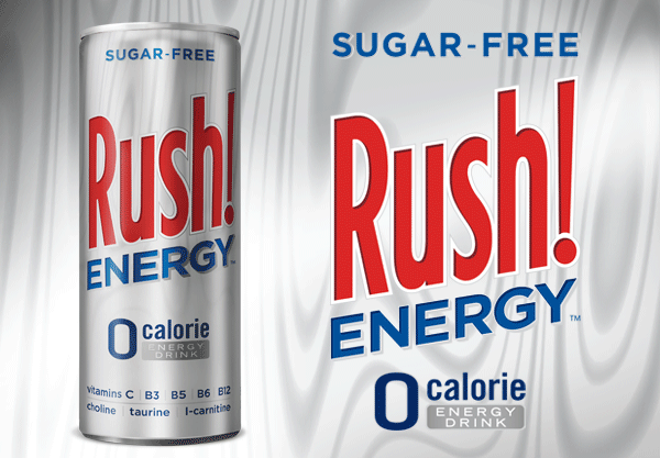 Rush! Energy Sugar Free Slim Can