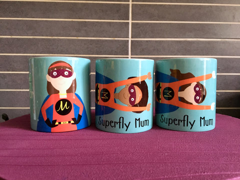 Personalised Superfly Mug - For Mum