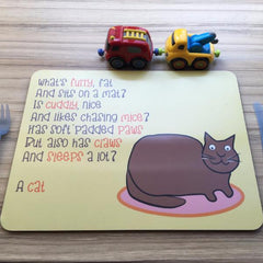 Cat Placemat with Rhyme