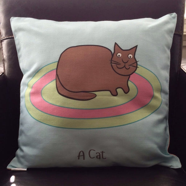 Cat Cushion With Rhyme