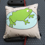 Frog Cushion With Rhyme
