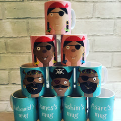 Personalised 'Pirate Face' Mugs