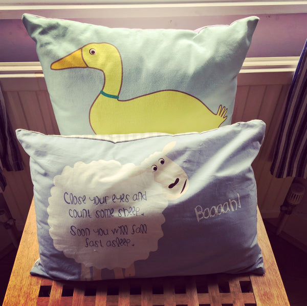 Duck Cushion With Rhyme