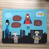 Everything A Girl Needs To Be A Superhero _ Personalised Placemat