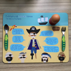 Everything A Boy Needs To Be A Pirate-Large Personalised Placemat