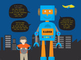 Everything A Boy Needs To Be A Robot_Large Personalised Placemat