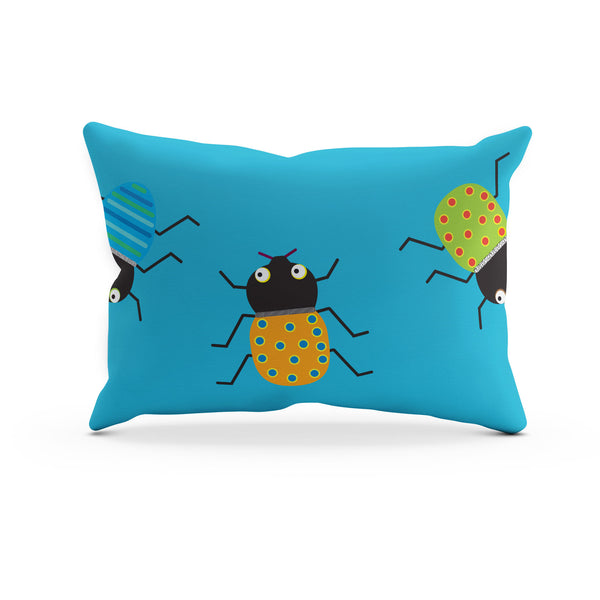 Who's Bugging who? Duvet cover – Blue