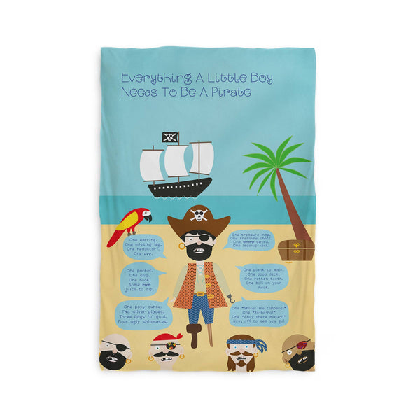 Kids Duvet Cover - Everything A Little Boy Needs To Be A Pirate