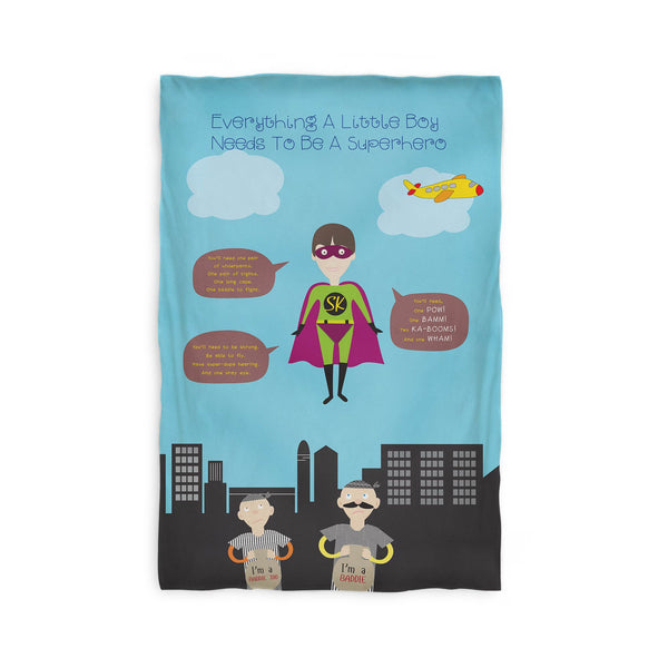 Kids Duvet Cover - Everything A Little Boy Needs To Be A Superhero