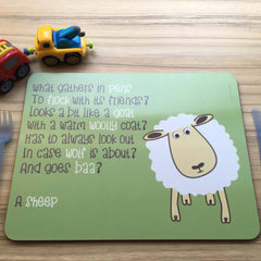 Placemat With Rhyme - Sheep
