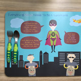 Personalised Superhero Placemats