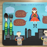Everything A Kid Needs To Be A Superhero Personalised Placemat