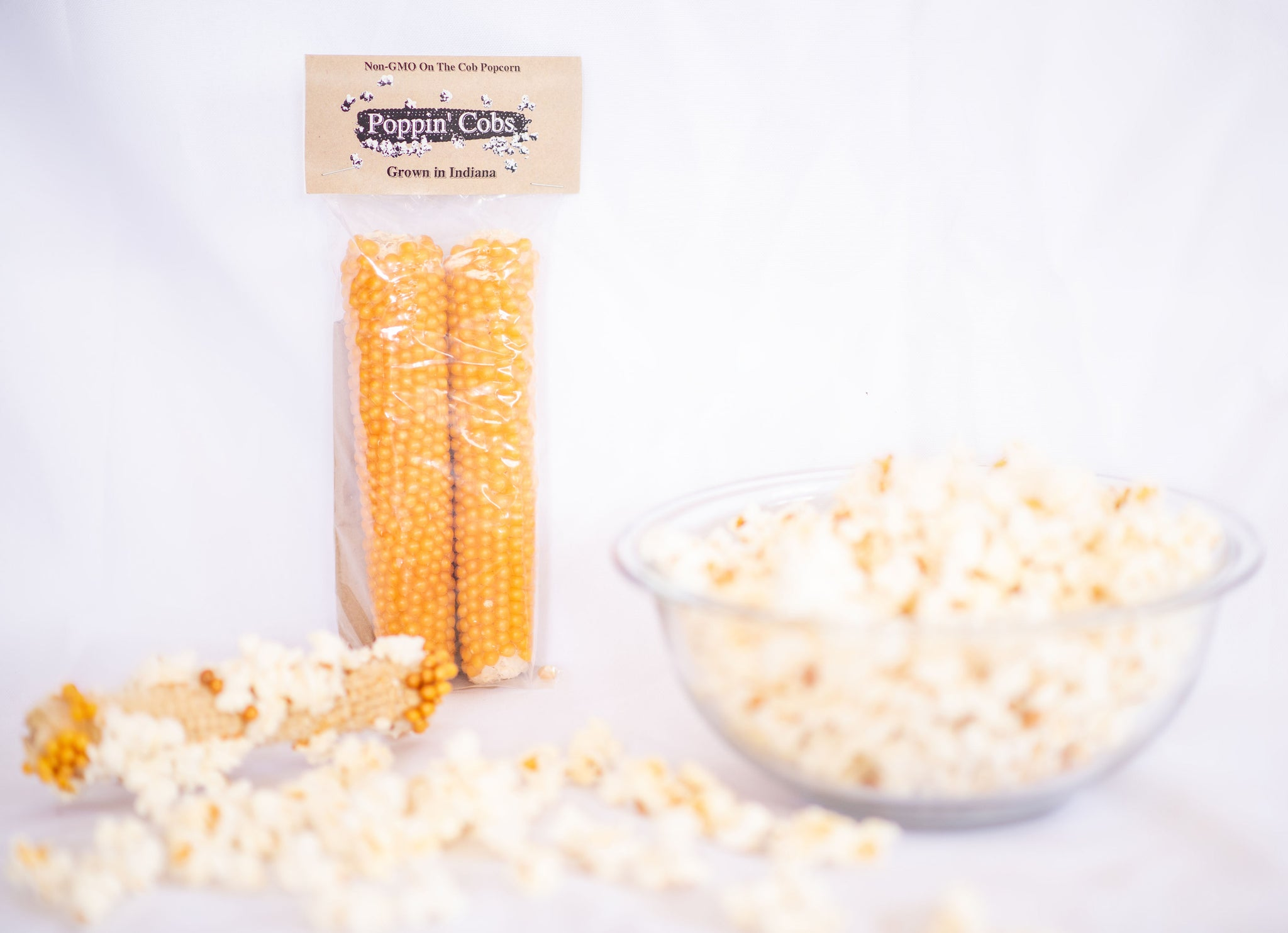 Poppin' Cobs 2 pack - Microwave Popcorn On the Cob, Gluten Free, Non-GMO