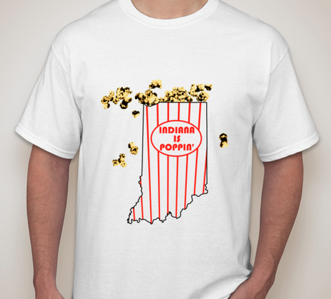 """Indiana is Poppin'"" T-Shirt & Free Poppin' Cobs 2 pack"