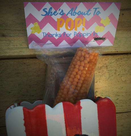 "Poppin' Cob's ""She's About to Pop"" Baby Shower Favor (Pink)"