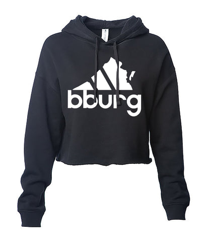 All Day Blacksburg womens crop hoodie