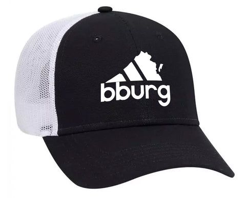 Blacksburg All Day hat - black/white mesh