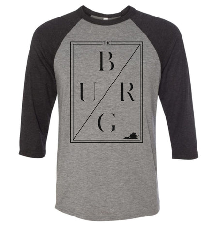 THE BURG thinline 3/4 sleeve - grey/black