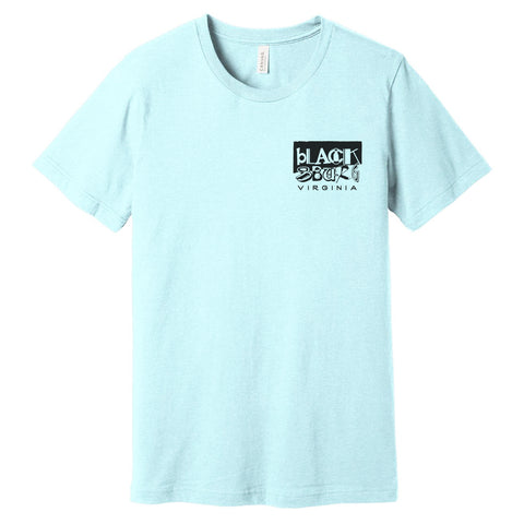 Downtown Staples tee - heather prism mint