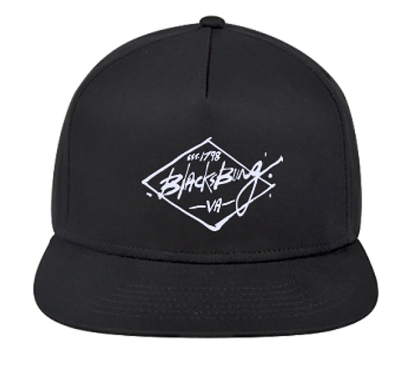 Blacksburg Est. 1798 snapback hat - black