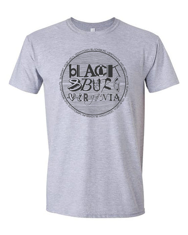 Blacksburg Fundraiser tee- heather grey