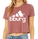 BLACKSBURG ALL DAY flowy crop tee