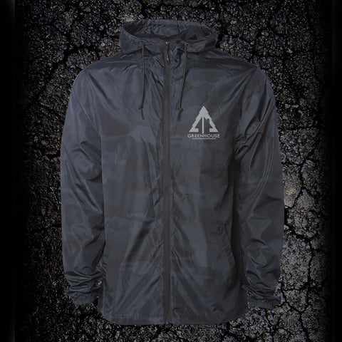 Lightweight Windbreaker - black camo